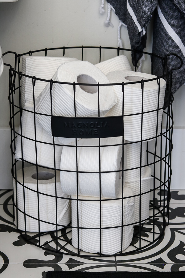 magnolia basket for toilet paper