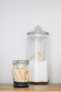 DIY match holder and bath salts