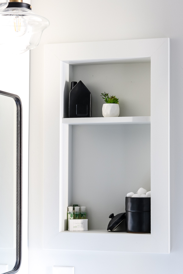 Stunning and budget friendly small guest bathroom makeover reveal   Living Letter Home #guestbathroom #beforeandafter #bathroomrenovation #budgetbathroomremodel #smallbathroom