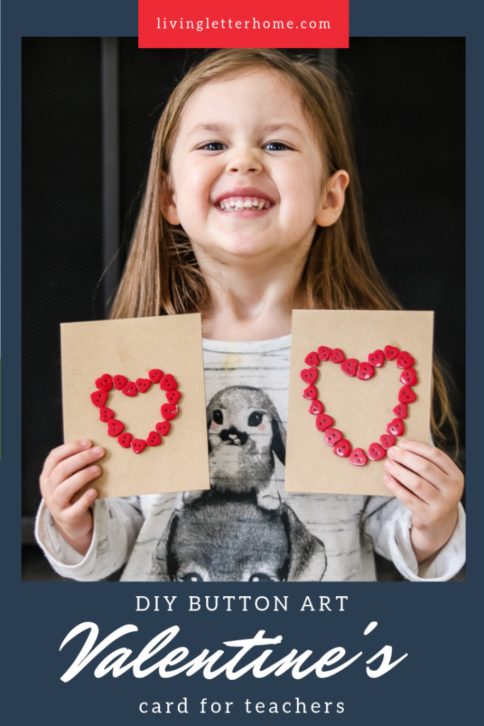 Don't forget your kid's teachers on Valentine's Day! Make this last minute DIY card super quick and easy #DIYvalentine #DIYcard #teachergift