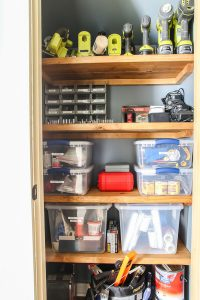 how to organize tools when you are in an apartment or don't have a garage