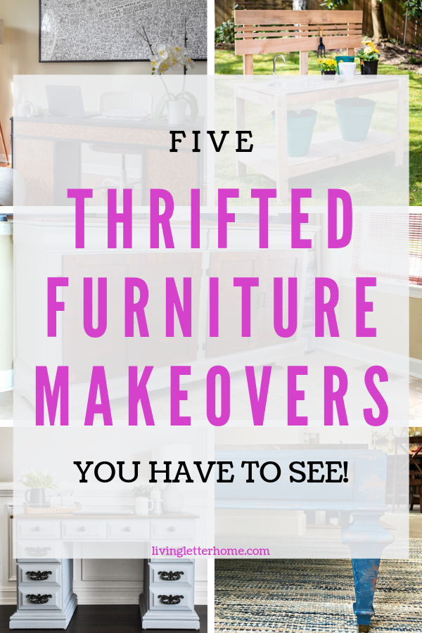 Don't miss out on these stunning thrifted furniture transformations! #thriftedmakeover #furnituremakeovers