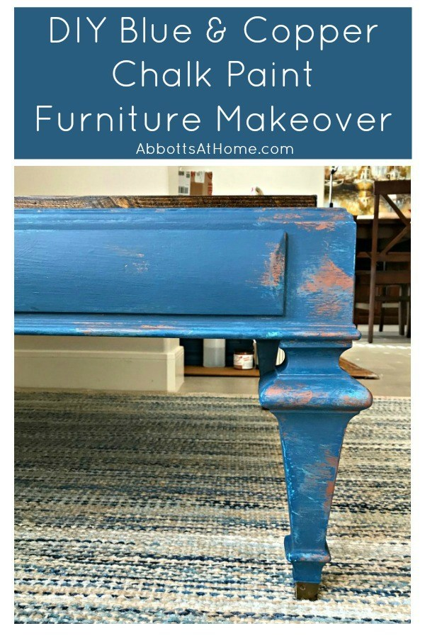Blue and Copper Table Makeover | AbbottsAtHome.com