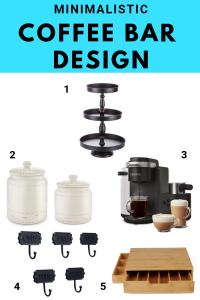 How to design a minimal coffee bar | Living Letter Home #coffeebardesign #coffeebarideas
