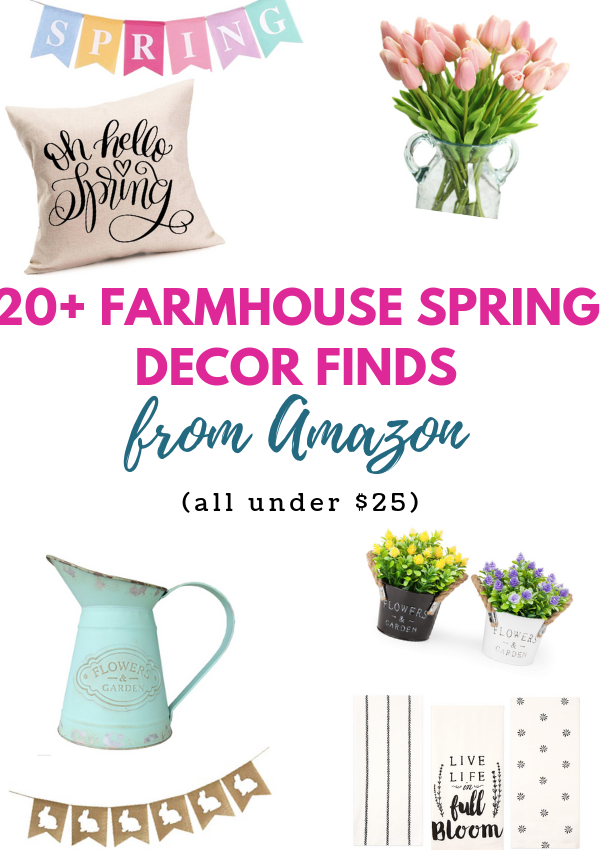 20+ Spring Farmhouse Decor Finds From Amazon