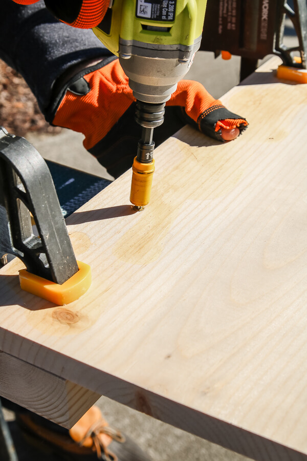 impact driver into wood