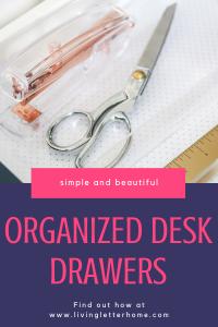 Simple and beautiful organized desk drawers #organizeddesk #organizationtips #organizeddeskdrawers #deskdrawerorganization