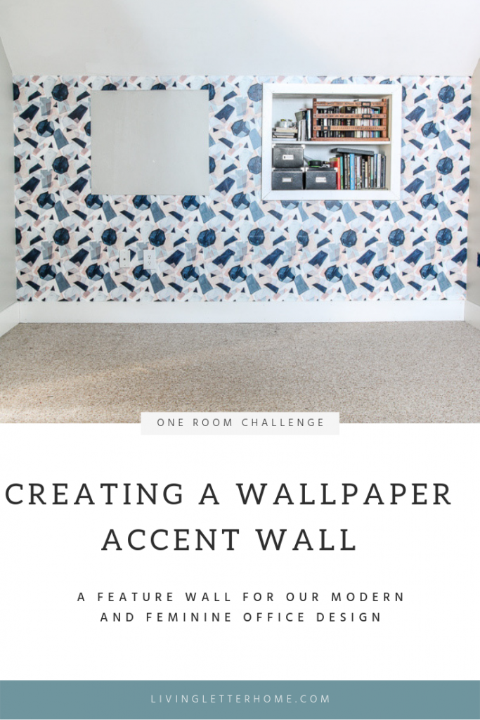 Check out how to easily add a wallpaper accent wall even if you've never done it before! #accentwall #wallpaper