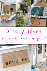 Adding curb appeal to your home doesn't have to cost a ton or take forever! Check out these 5 easy curb appeal ideas you can do in an afternoon! #curbappeal #curbappealideas #athomediy