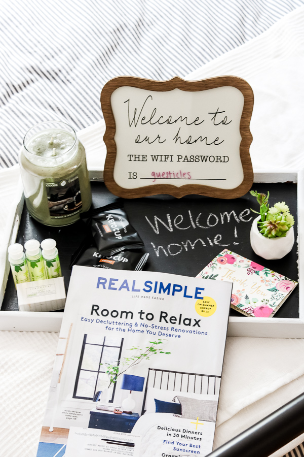 finished DIY thrifted chalkboard tray