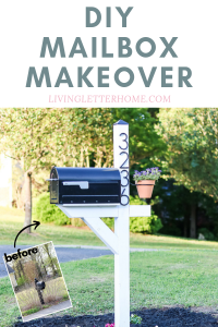 Check out this guide to a budget DIY mailbox makeover you can do in a day! #athomediy #mailboxmakeover