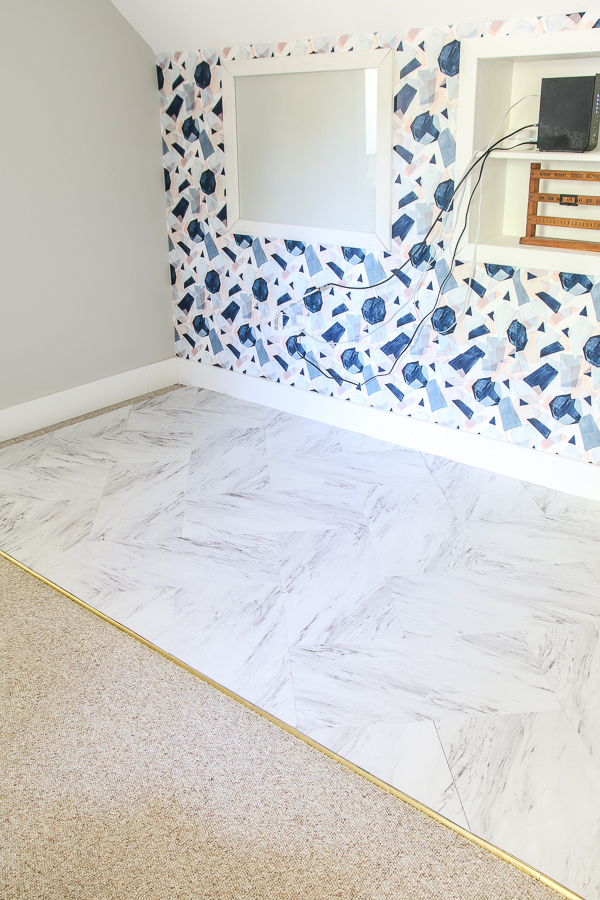 Faux Marble Floor 12 - Living Letter Home