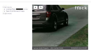 Flock Safety recognizes insane detail including license plate numbers and how many times the person has been in the neighborhood