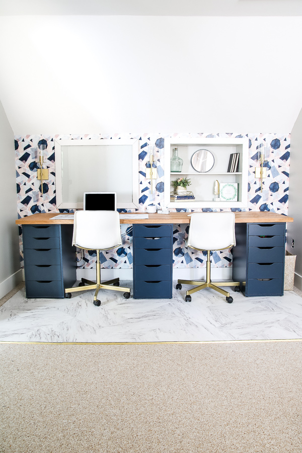 modern and feminine office reveal