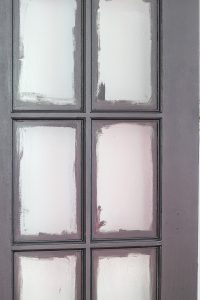 painted interior french doors