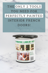 You can save HOURS of time by only using these 2 CHEAP AND SIMPLE tools to paint your own french doors! You have to see how easy this is #paintinginteriordoors #frenchdoors #paintingtips #protips