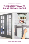 How to paint french doors without taping!