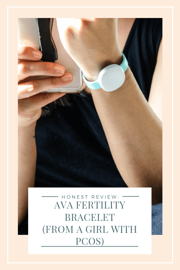 Ava Bracelet Review: An honest review of the Ava Fertility Tracking bracelet including pros and cons and what it's like using it when you have PCOS #avafertility #avabracelet #fertilitytracker #infertility #PCOS