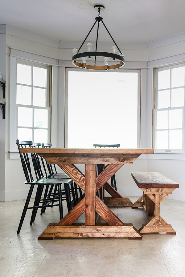 Restoration Hardware Inspired Dining Table - Living Letter Home