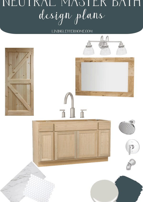 Master Bathroom Refresh Design Plans