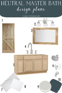 Budget friendly master bathroom refresh design update plans