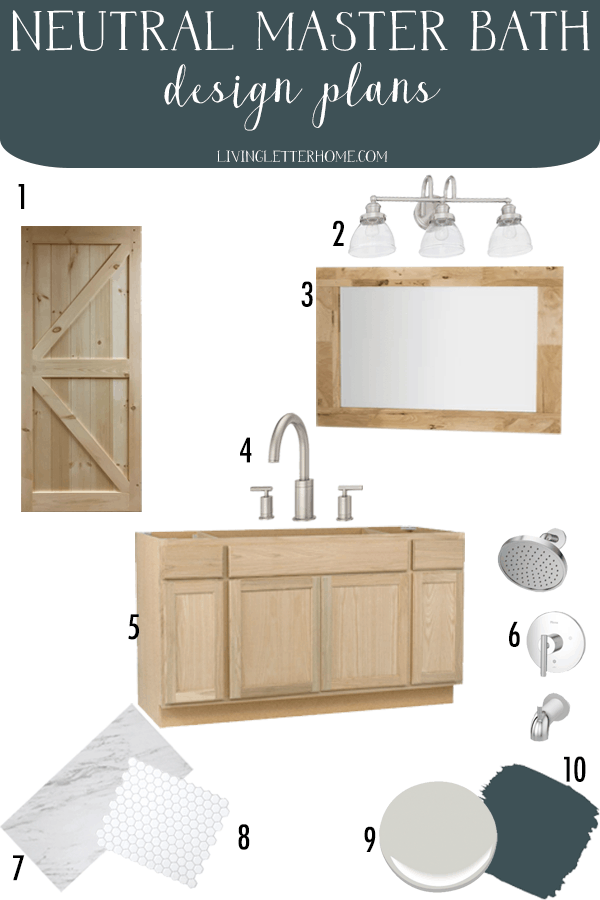 Budget friendly master bathroom refresh design update plans