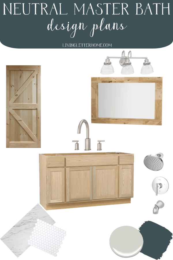 Master bathroom refresh plans. A bathroom remodel doesn't have to cost a ton or take a lot of time! Here's our plans to complete a quick, budget friendly bathroom refresh to hold us over until we have the budget to do something more!