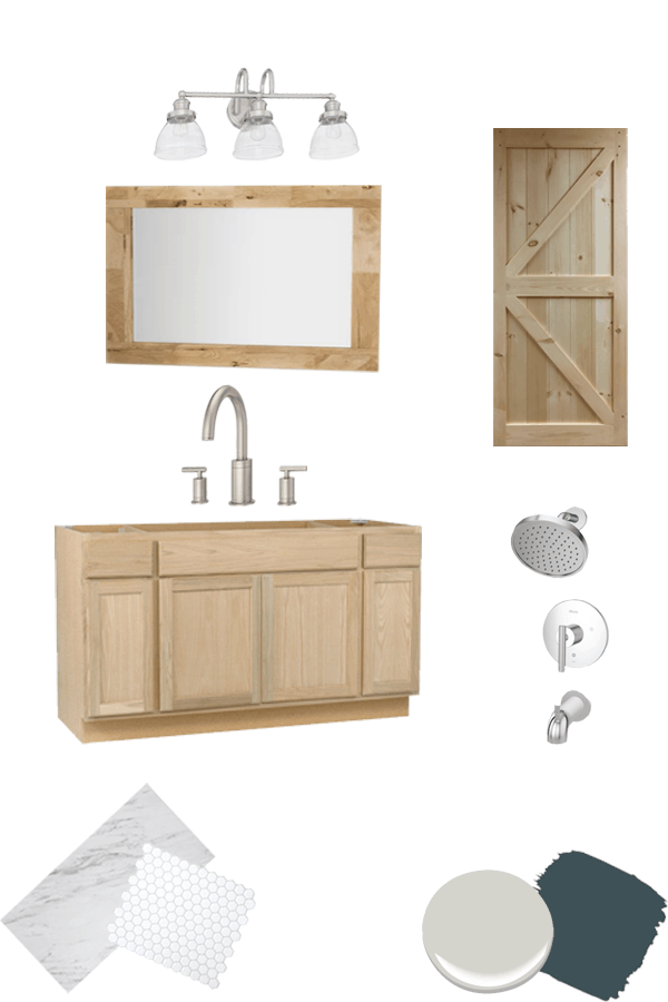 master bath refresh design board