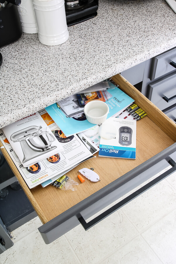 junk drawer before k cup storage
