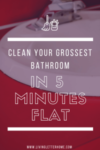 The quickest way I have found for a fast bathroom deep clean #bathroomcleaning #ad #cleanbathrooms