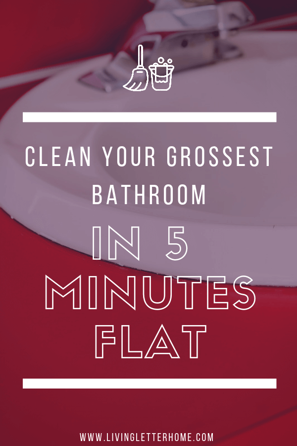 The best way I have found for a fast bathroom deep clean #bathroomcleaning #ad #cleanbathrooms