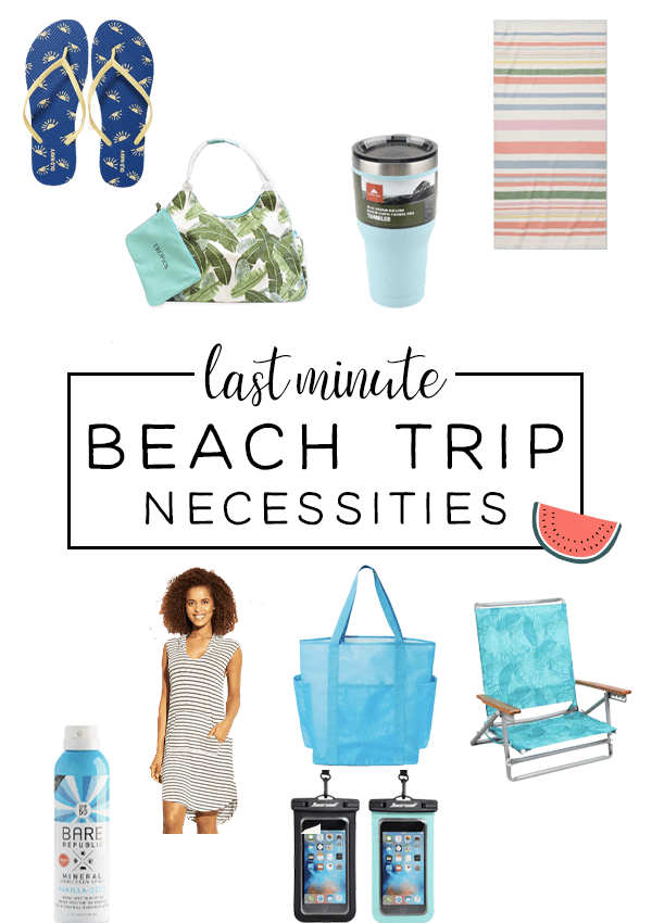 Planning a last minute beach trip? Here are some packing essentials to get you on the road quick with all your bases covered!