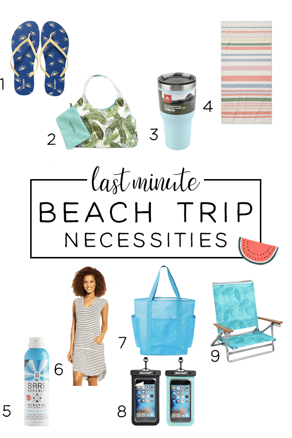 Last minute beach trip packing list