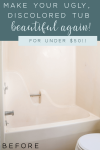How to refinish a tub with Rust-Oleum Tub and Tile Kit. Transform the look of your tub for $50 or less!
