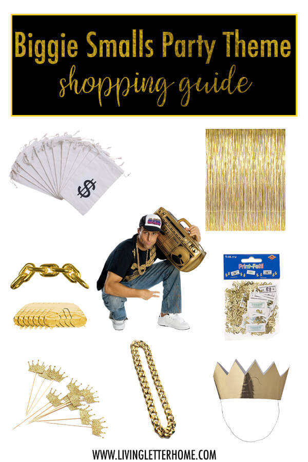 Biggie Smalls Themed Birthday Party | 90s Theme Birthday Party | Rap Themed Birthday Party Shopping Guide From Amazon #90sparty #90sthemeparty #biggiesmallsbirthday #rapthemedbirthdayparty