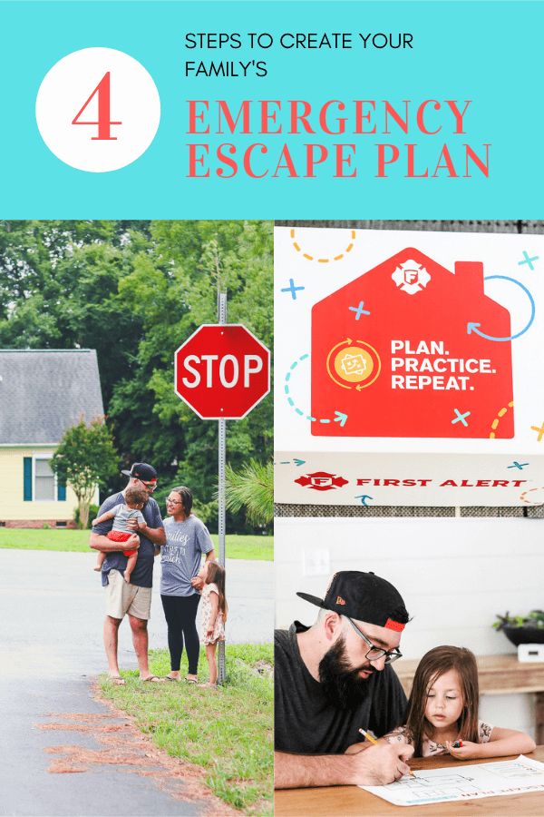 Follow these easy tips to create your own family emergency escape plan AD #firesafety #emergencyescape #firesafetytips
