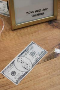 face on 100 bill