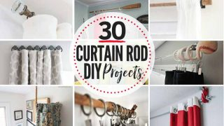 30 FANTASTIC, affordable DIY Curtain Rod Ideas!!
