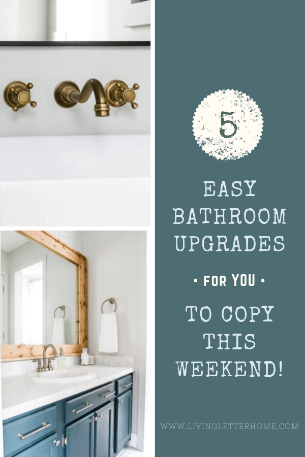 Cheap & easy bathroom upgrades to copy ASAP! #bathroomideas #bathroomremodel