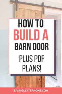 How to build a barn door plus PDF plans graphic