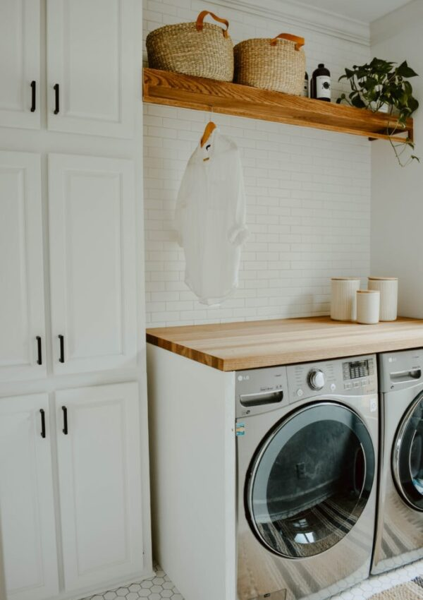 9 Gorgeous Small Laundry Room Makeovers + A Fun Announcement!