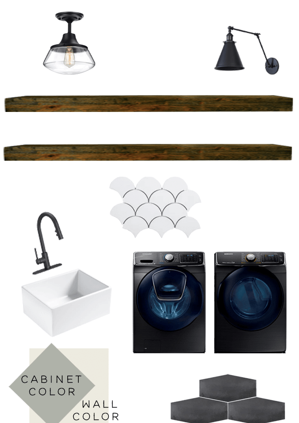 Small Laundry Room Design Board + Before Tour