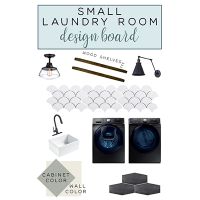 Laundry Room Design Board + Before Tour