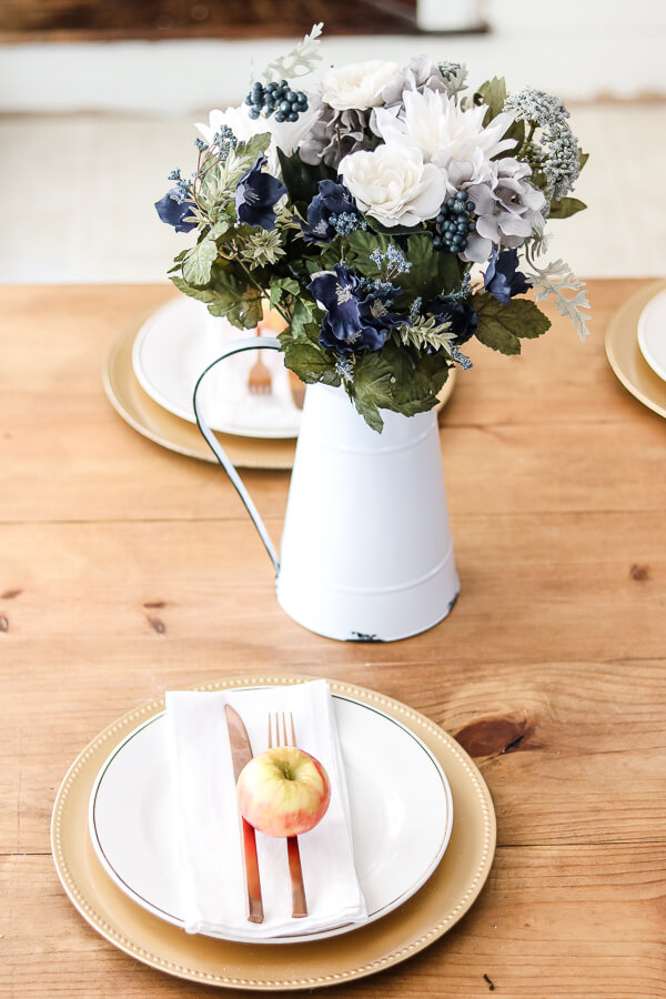 affordable fall decor with apples