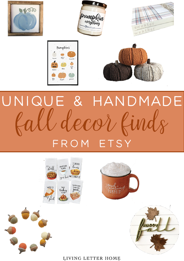 2019 Fall Decor Finds From Etsy
