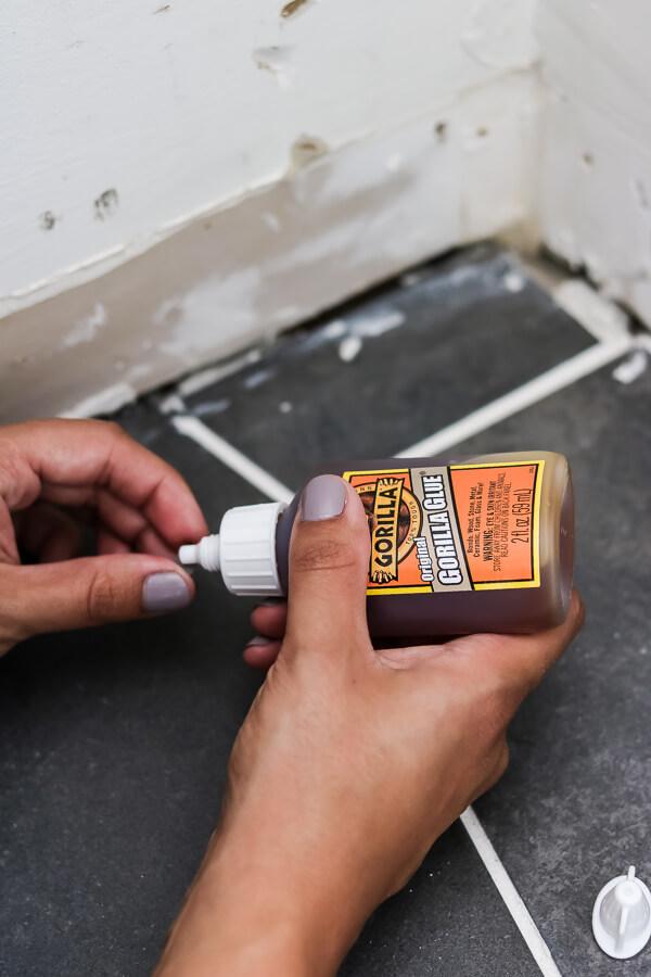 gorilla glue repair chipped tile