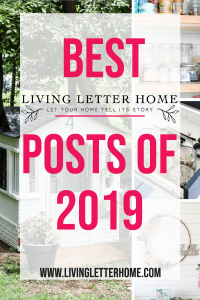 Best DIY projects and room reveals of 2019 #bestof #DIY #roommakeover #roomreveal