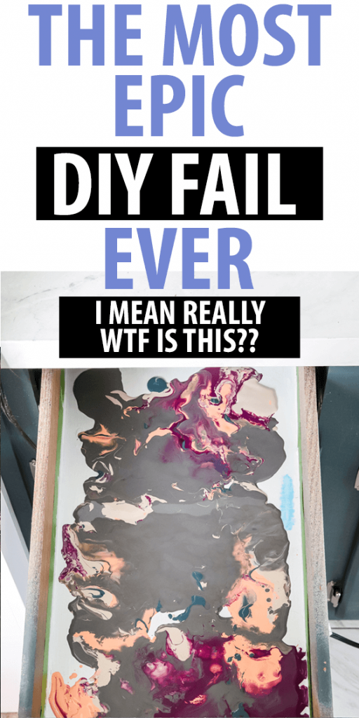 Think everything you see on Pinterest will work? Come see this disaster of a DIY fail AND HELP! #DIYfail #pinterestfail
