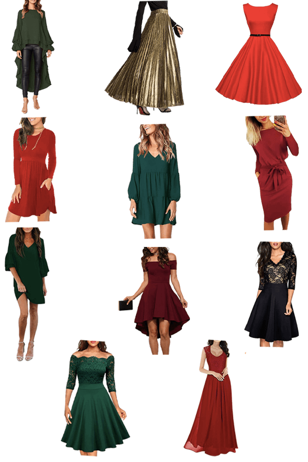 Best (budget friendly!) holiday party dresses from Amazon! #holidaypartydress #newyearsevedress #christmaspartydress