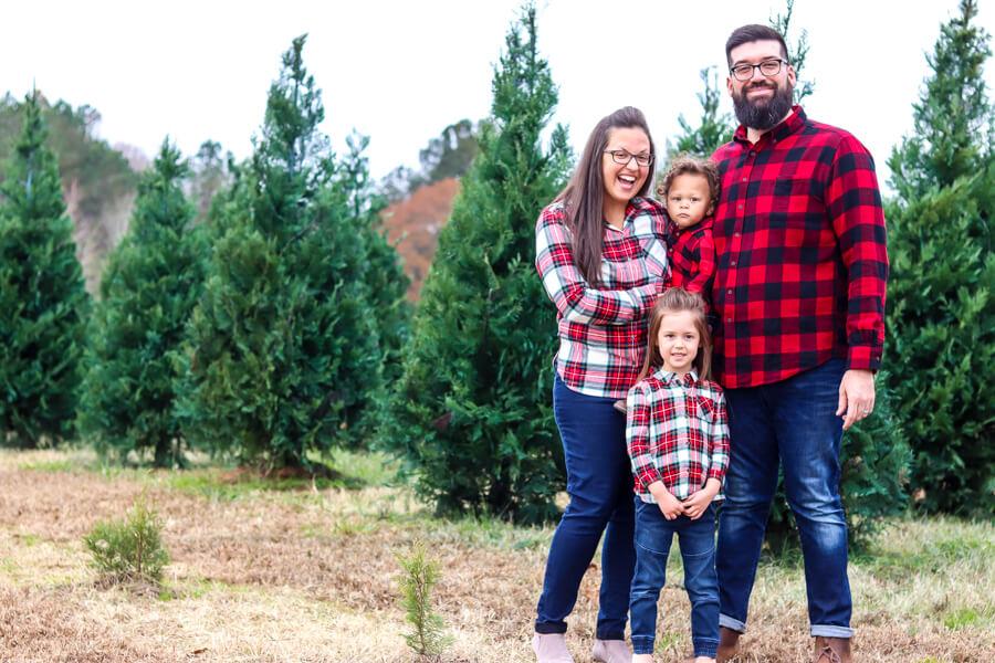penland christmas tree farm family photo